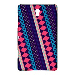 Purple And Pink Retro Geometric Pattern Samsung Galaxy Tab S (8.4 ) Hardshell Case