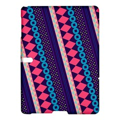 Purple And Pink Retro Geometric Pattern Samsung Galaxy Tab S (10.5 ) Hardshell Case