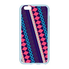 Purple And Pink Retro Geometric Pattern Apple Seamless iPhone 6/6S Case (Color)