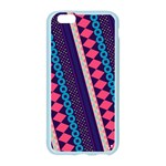 Purple And Pink Retro Geometric Pattern Apple Seamless iPhone 6/6S Case (Color) Front