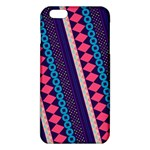 Purple And Pink Retro Geometric Pattern iPhone 6 Plus/6S Plus TPU Case Front