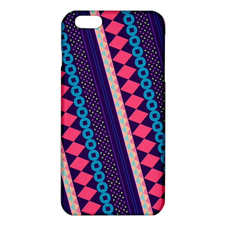 Purple And Pink Retro Geometric Pattern iPhone 6 Plus/6S Plus TPU Case