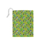 Tropical Floral Pattern Drawstring Pouches (Small)  Back