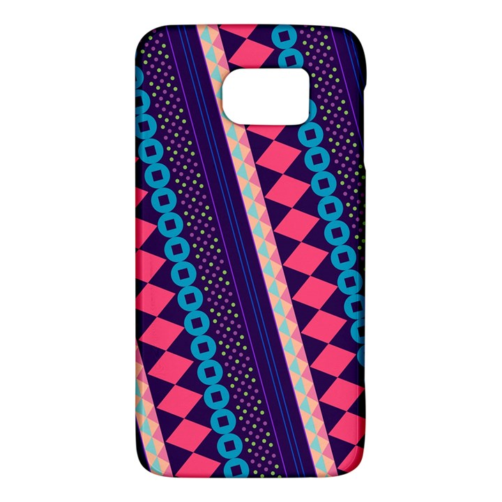 Purple And Pink Retro Geometric Pattern Galaxy S6
