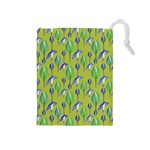 Tropical Floral Pattern Drawstring Pouches (Medium)  Front