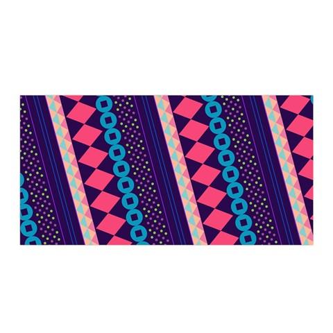 Purple And Pink Retro Geometric Pattern Satin Wrap