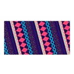 Purple And Pink Retro Geometric Pattern Satin Wrap Front