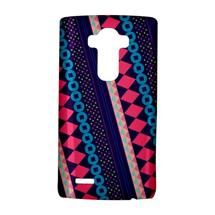 Purple And Pink Retro Geometric Pattern LG G4 Hardshell Case