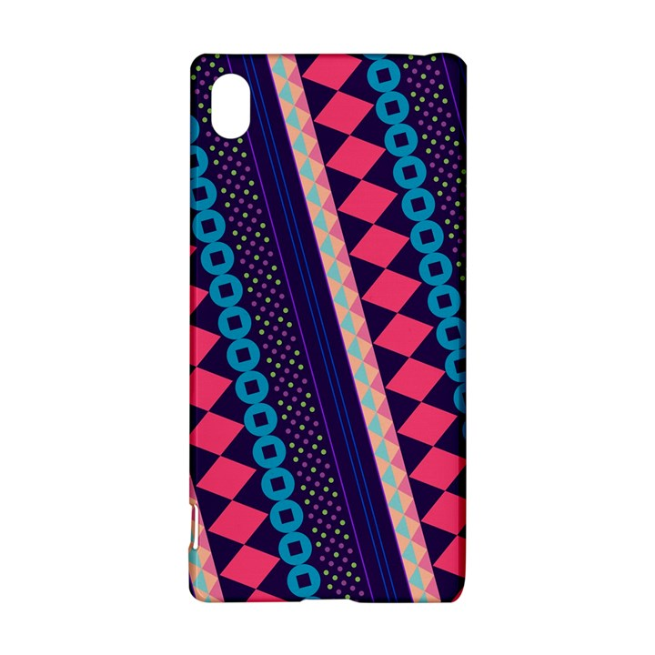 Purple And Pink Retro Geometric Pattern Sony Xperia Z3+