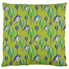 Tropical Floral Pattern Standard Flano Cushion Case (one Side)