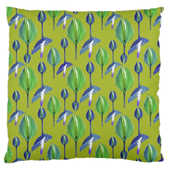 Tropical Floral Pattern Large Flano Cushion Case (One Side)