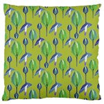 Tropical Floral Pattern Large Flano Cushion Case (Two Sides) Back