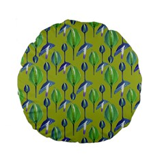 Tropical Floral Pattern Standard 15  Premium Flano Round Cushions