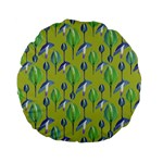 Tropical Floral Pattern Standard 15  Premium Flano Round Cushions Back