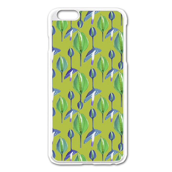 Tropical Floral Pattern Apple iPhone 6 Plus/6S Plus Enamel White Case