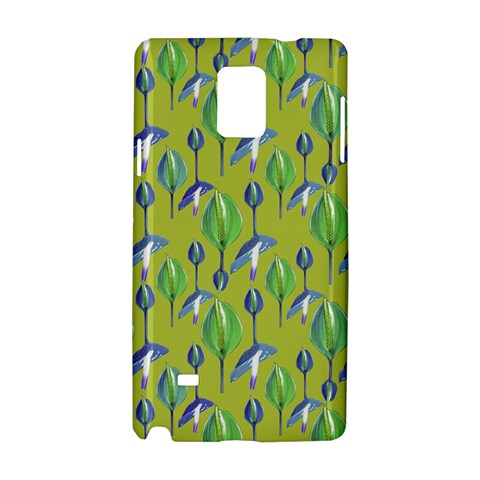 Tropical Floral Pattern Samsung Galaxy Note 4 Hardshell Case