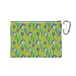 Tropical Floral Pattern Canvas Cosmetic Bag (M) Back