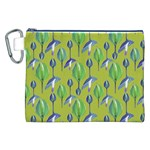 Tropical Floral Pattern Canvas Cosmetic Bag (XXL) Front