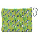 Tropical Floral Pattern Canvas Cosmetic Bag (XXL) Back