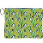 Tropical Floral Pattern Canvas Cosmetic Bag (XXXL) Front