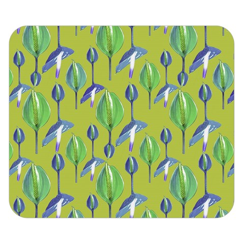 Tropical Floral Pattern Double Sided Flano Blanket (Small)
