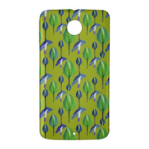 Tropical Floral Pattern Nexus 6 Case (White)