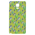 Tropical Floral Pattern Galaxy Note 4 Back Case Front