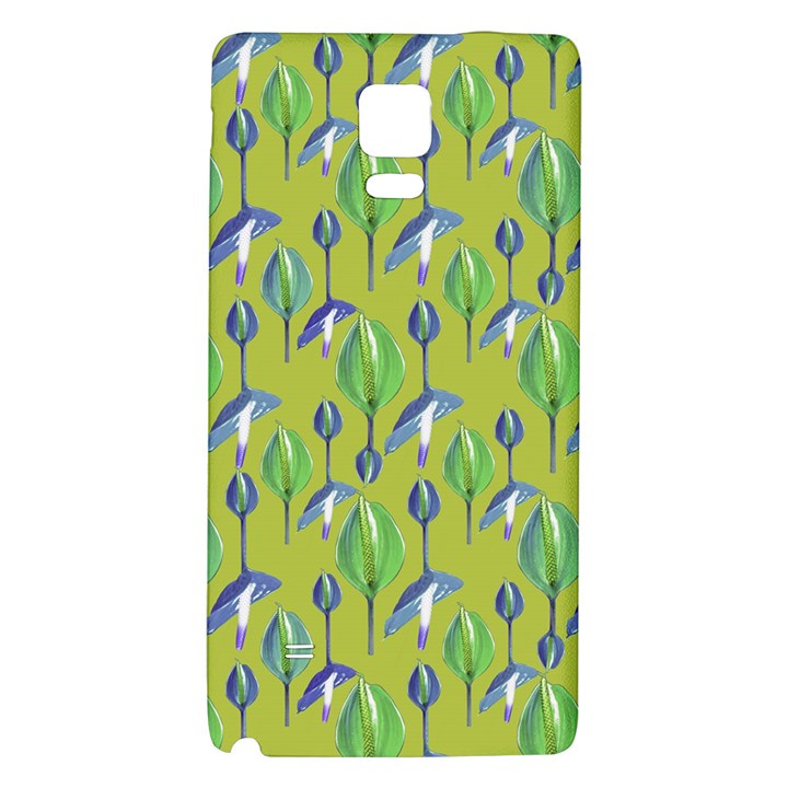 Tropical Floral Pattern Galaxy Note 4 Back Case