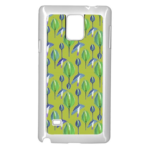 Tropical Floral Pattern Samsung Galaxy Note 4 Case (White)