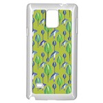Tropical Floral Pattern Samsung Galaxy Note 4 Case (White) Front