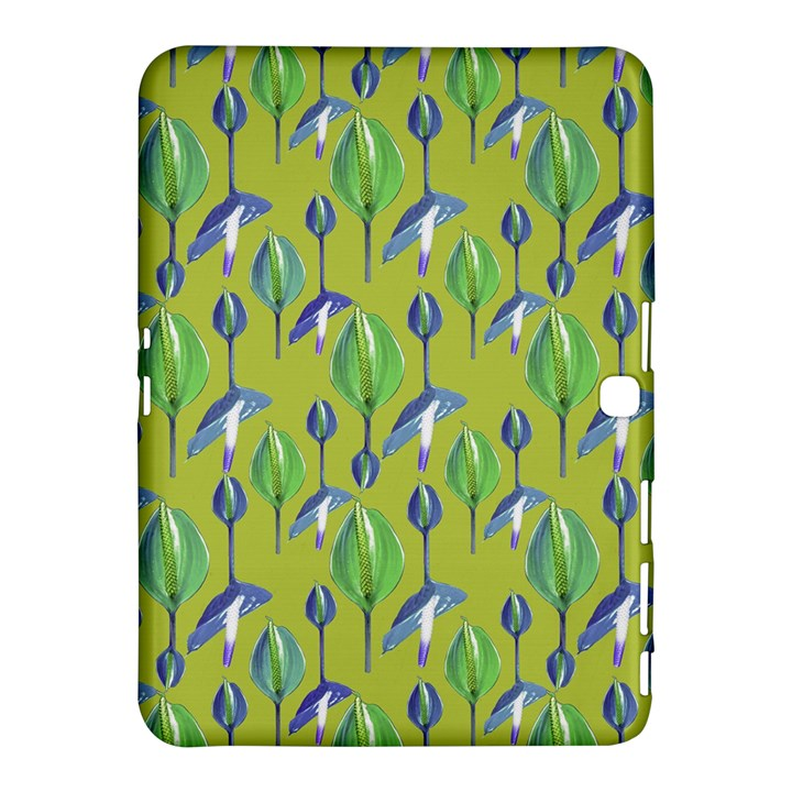 Tropical Floral Pattern Samsung Galaxy Tab 4 (10.1 ) Hardshell Case