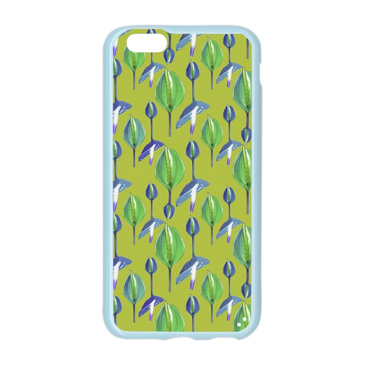Tropical Floral Pattern Apple Seamless iPhone 6/6S Case (Color)