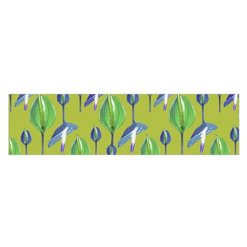 Tropical Floral Pattern Satin Scarf (Oblong)