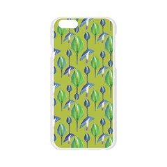Tropical Floral Pattern Apple Seamless iPhone 6/6S Case (Transparent)