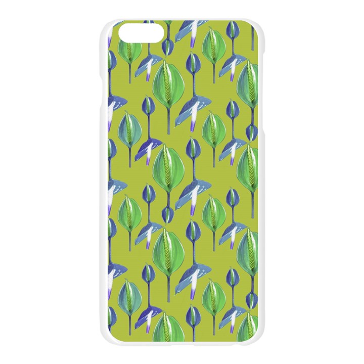 Tropical Floral Pattern Apple Seamless iPhone 6 Plus/6S Plus Case (Transparent)