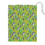 Tropical Floral Pattern Drawstring Pouches (XXL) Front