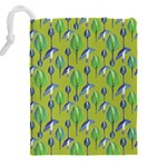 Tropical Floral Pattern Drawstring Pouches (XXL) Back