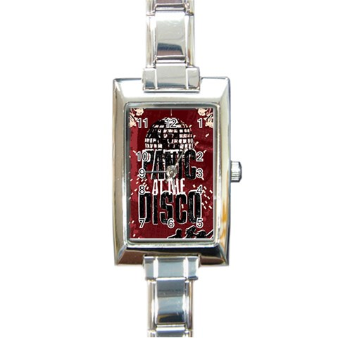 Panic At The Disco Poster Rectangle Italian Charm Watch