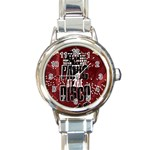 Panic At The Disco Poster Round Italian Charm Watch Front