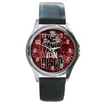 Panic At The Disco Poster Round Metal Watch Front