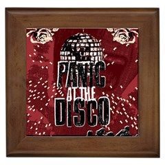 Panic At The Disco Poster Framed Tiles