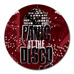 Panic At The Disco Poster Round Mousepads Front