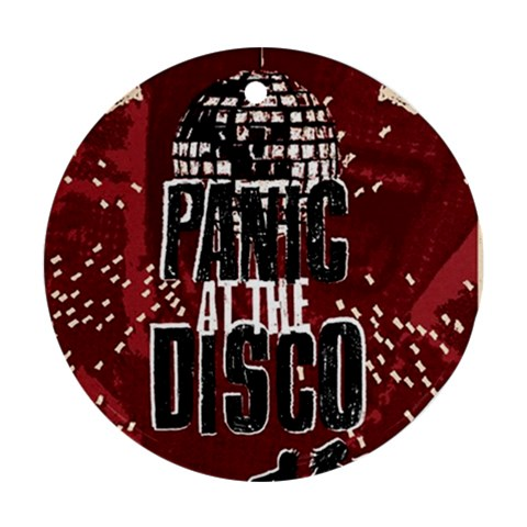 Panic At The Disco Poster Ornament (Round)