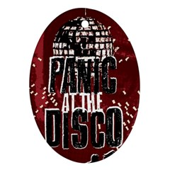 Panic At The Disco Poster Ornament (Oval)