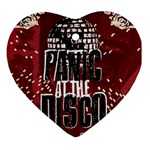Panic At The Disco Poster Ornament (Heart)  Front