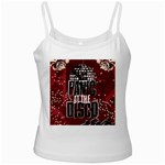 Panic At The Disco Poster White Spaghetti Tank Front