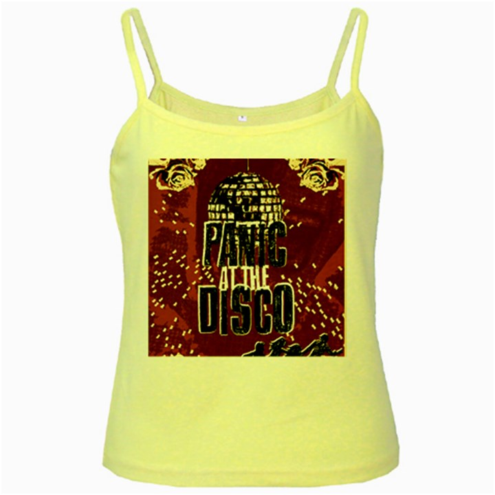 Panic At The Disco Poster Yellow Spaghetti Tank