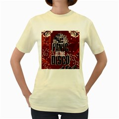 Panic At The Disco Poster Women s Yellow T-Shirt