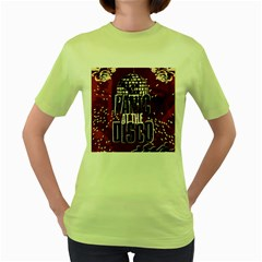 Panic At The Disco Poster Women s Green T-Shirt