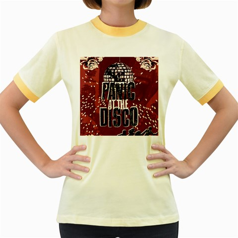 Panic At The Disco Poster Women s Fitted Ringer T-Shirts